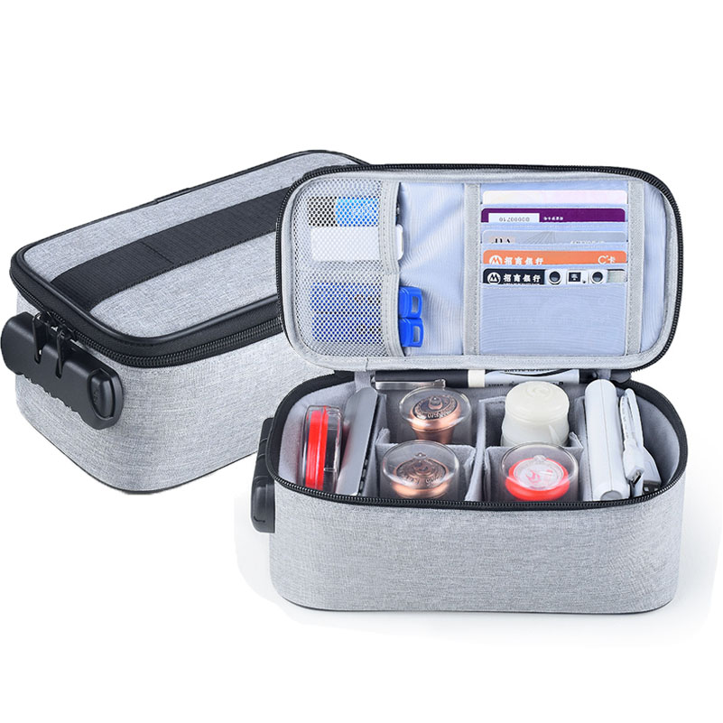 Multifunction Digital Organizer Bag With Password Lock Seal  Card Usb Charger Wires Zipper Storage Case Travel Packing Small Bag