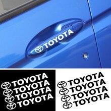 4 шт Стикеры для дверных ручек автомобилей toyota corolla yaris