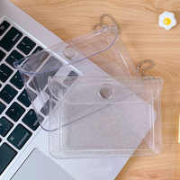 Tarjetero transparente de PVC impermeable para mujer y hombre, tarjetero para tarjetas de crédito, Mini billetera para tarjetas de identificación, monedero para niña