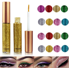 2019 Hot 10 colors Eyeliner Liquid Make Up Beauty Comestics sequins Eye Liner glitter shimmer shiny High Quality Waterproof