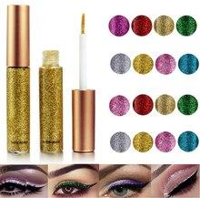 2019 Hot 10 kolory Eyeliner ciecz makijaż uroda Comestics cekiny Eyeliner glitter shimmer shiny wysokiej jakości wodoodporna