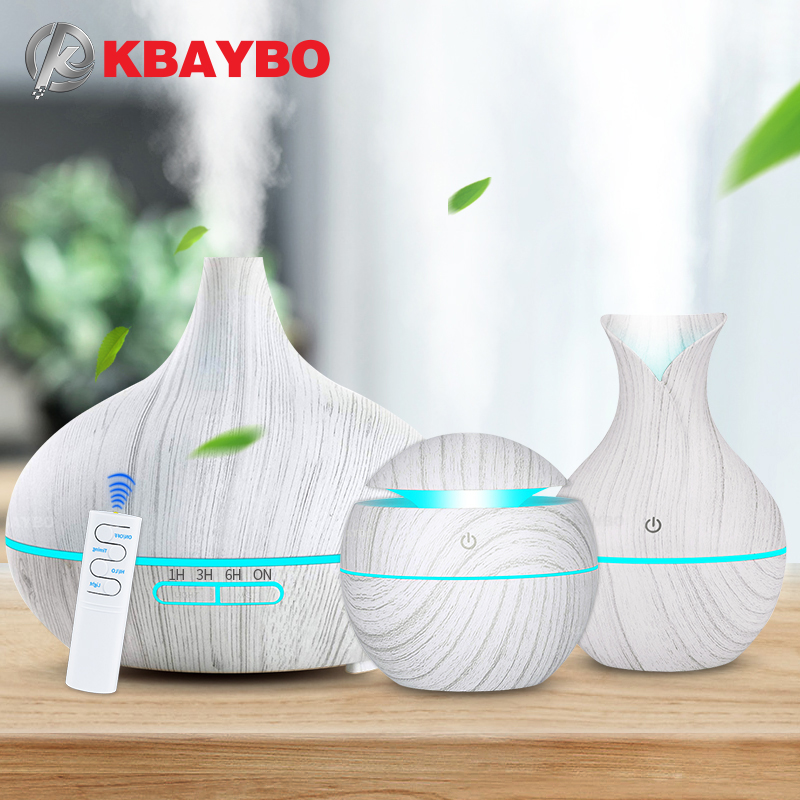 KBAYBO Aroma Air Humidifier Wood Aroma Essential Oil Diffuser Ultrasonic Humidifier Cool Mist Maker For Home Spa Mini Humidifier