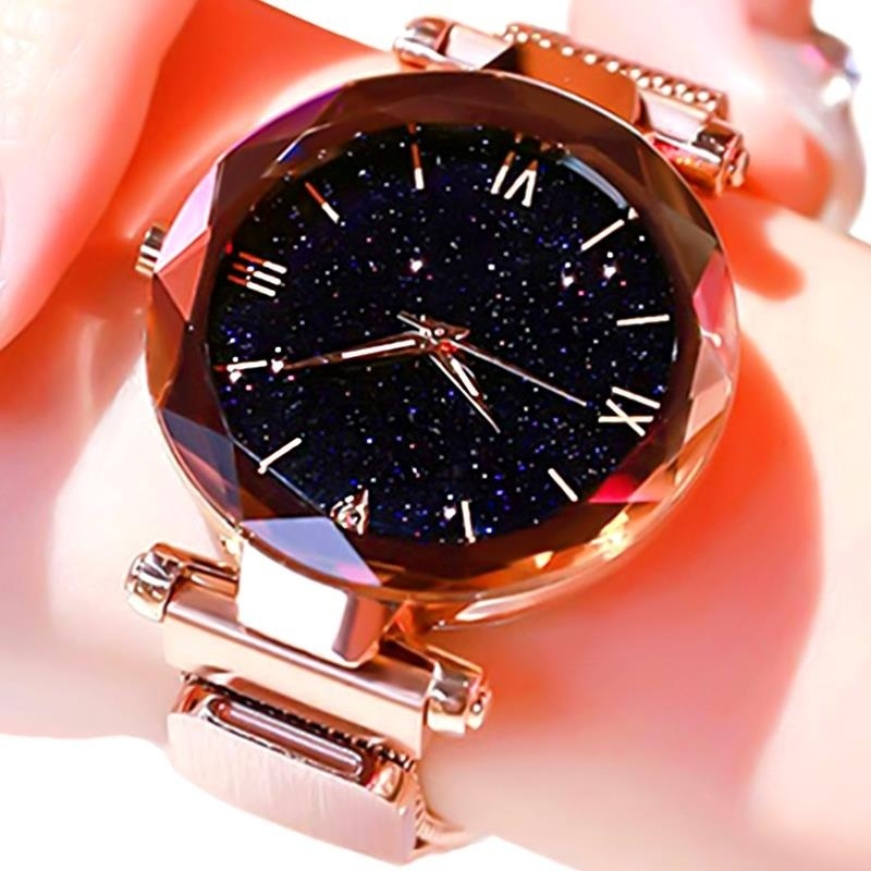 Luxury Starry Sky Women Watches Magnetic Mesh Belt Band Watch Women's Fashion Dress Wristwatch Reloj Mujer