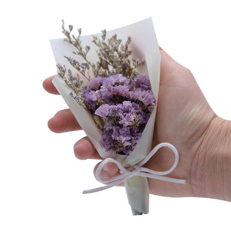 MINI แห้งดอกไม้ช่อดอกไม้งานแต่งงานตกแต่ง Flores Secas DIY ประดิษฐ์ดอกไม้ San Valentin ของขวัญ Chirstmas วันขอบคุณพระเจ้า