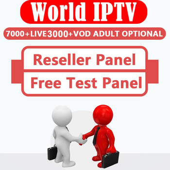 World IPTV Reseller control panel with credits HD Live IPTV M3U Subscription Netherland Italy Spain France German Reseller IPTV