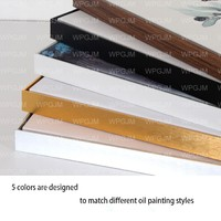 Metal Picture frame Canvas Painting Frame For Oil Paintings Frame For Home Decoration Art DIY aluminum alloy ramka na zdjecie