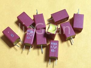 Image 1 - 10PCS ใหม่สีแดง WIMA MKS2 4.7UF 63VDC 475/63V PCM5 ขายร้อน 4700nf 4.7u 63V MKS2C044701M00JSSD