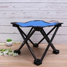 Multifunctional Beach Portable Fishing Chair Folding Stool Recreational Fishing Gear for Camping Hiking(Blue)