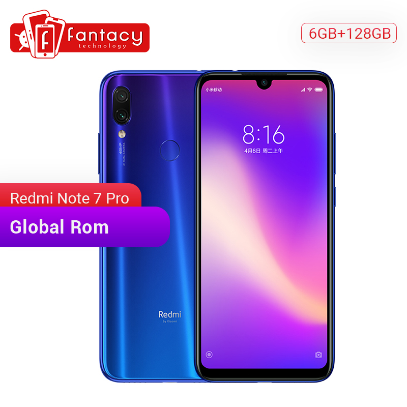 In Stock Global Rom Xiaomi Redmi Note 7 Pro 6GB 128GB Snapdragon 675 48MP IMX 586 Camera Octa Core 6.3'' FHD Screen Mobile Phone