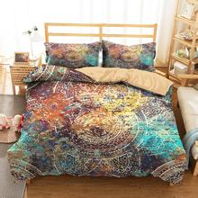 King Bedding Clothes Home Textiles Dream Popular Mandala Printed Duvet Cover with Pillowcases for Adult Single Size bedding clothes home textiles dream dark purple mandala printed duvet cover with pillowcases for adult queen double size