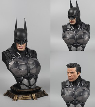цена Resin Bust Statue Recast With 3pcs replaced heads 1/3 Scale Super Hero Batman Dawn of Justice Batman in stock онлайн в 2017 году