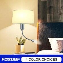 Wall-Lamp Lighting Interior-Decoration Bedside Bedroom Fabric E27 FOXGBF Source
