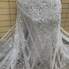 Lace-Fabric Embroidery Beaded-Mesh Tulle French 5yards-Newest Net with Best-Quality JIANXI.C-598817