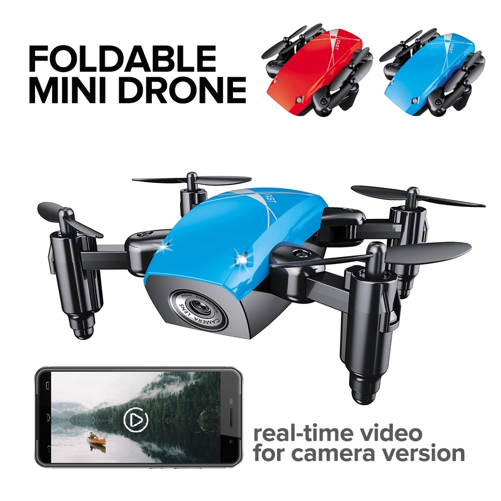 Oyuncaklar ve Hobi Ürünleri'ten RC Helikopterler'de JD JY018 FPV radyo R/C taşınabilir Quadcopter 720P kamera WiFi katlanabilir Selfie cep Drone VS E58 uzaktan kontrol Flycam helikopter title=