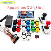 Caja de Pandora 3D 2448 kit DIY Arcade Kit + botones de empuje HAPP + copia SANWA Joystick Arcade consola máquina hogar armario paquete