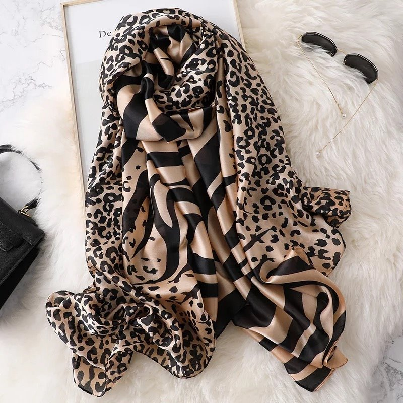 Luxury Brand Summer Women Scarf Dot Silk Scarves Female Shawl Foulard Beach Cover-ups Wrap Long Bandanna Ladies Pareo Muffler