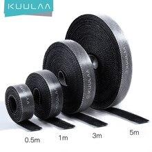KUULAA Kabel Veranstalter Kostenloser Länge USB Kabel Draht Wickler für telefon Kopfhörer Halter Maus kabel protector 1m/3m/5m Kabel Managemet