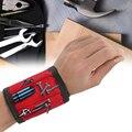 Новинка 2021, магнитный браслет, сумка для инструментов, регулируемый браслет электрика, винты, гвозди, держатель для дрели, ремешок, браслет д...