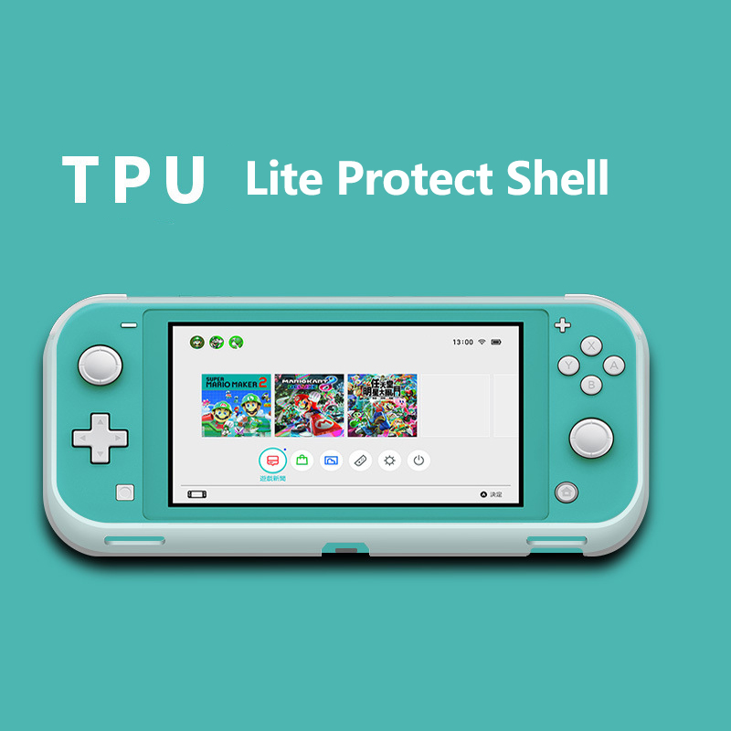 Switch Lite Mini NS  TPU Protect Shell For Nintendos Switch Console Shell Case Anti-scratch Dustproof Transparent Crystal Film