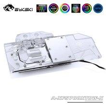 Bykski Vollständige Abdeckung RGB/A-RGB GPU Wasser Kühl Block Für XFX RX 5700 XT THICC III ULTRA 8G BOOST Grafikkarte A-XF5700XTBW-X