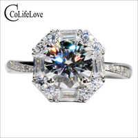 CoLife ювелирное изделие 925 серебро Moissanite обручальное кольцо для свадьбы 1ct F цвет Moissanite серебряное кольцо Moissanite ювелирные изделия