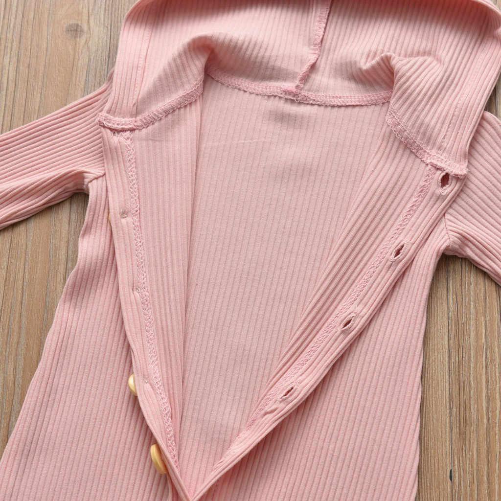 MUQGEW Solid Newborn Romper Hot Sale Infant Baby Unisex Jumpsuit Girls Boys Autumn Long Sleeve Solid Hooded Romper recem nascido