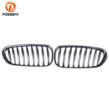 POSSBAY 1 Pair Front Bumper Center Wide Kidney Hood Grilles Grill Cover for BMW Z4 Roadster E85 2002-2009 2008 Car Styling image