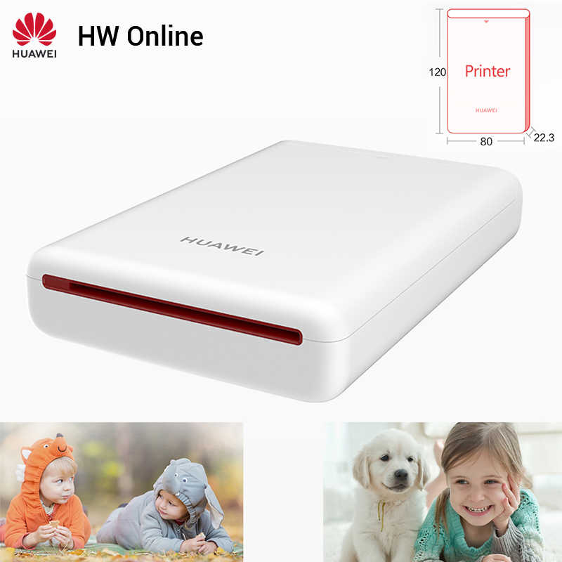 Huawei Mini Photo Printer Portabel Saku Printer Honor Ponsel Ar Printer 300 Dpi Bluetooth 4.1 Dukungan DIY Share 500 MAH