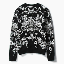 цена на 2019 New Men Black Sweatshirt Print Hoodie Skull Hip Hop Chinese Hell Devil Japanese Style Mens Sweatshirts