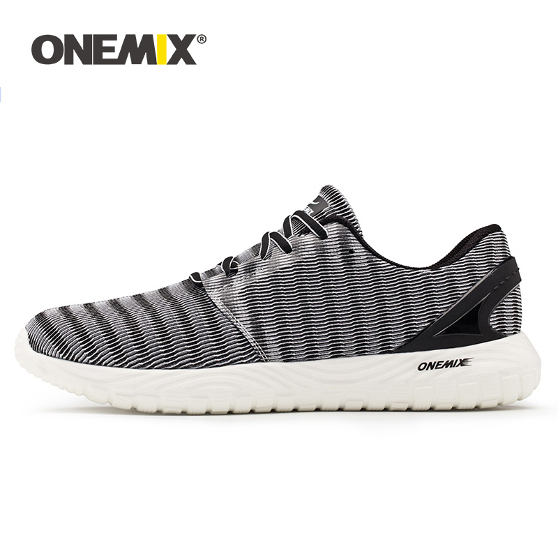 ONEMIX 2020 Men Lightweight Running Shoes Outdoors Fur Vamp Jogging Shoes Walking Sneakers Flexible Soft Breathable Sports Shoes