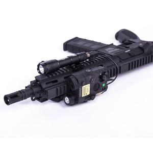 Image 3 - NEW Tactical Airsoft  Flashlight PEQ Green Laser LA 5C UHP IR Laser LED IR Laser LA5 softair tactical peq light Strobe