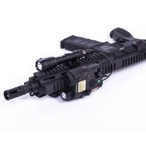 Image 3 - Novo tático airsoft lanterna peq laser verde LA 5C uhp ir laser led ir laser la5 softair tático peq luz estroboscópio
