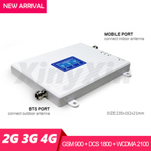 2 جرام 3 جرام 4 جرام هاتف محمول الخلوية الداعم إشارة الداعم GSM 900 DCS LTE 1800 WCDMA 2100 موبايل مكرر إشارة مكبر للصوت ثلاثي الفرقة