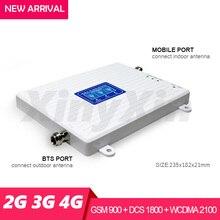 2G 3G 4G cep telefonu hücresel güçlendirici sinyal güçlendirici GSM 900 DCS LTE 1800 WCDMA 2100 mobil sinyal tekrarlayıcı amplifikatör Tri bant