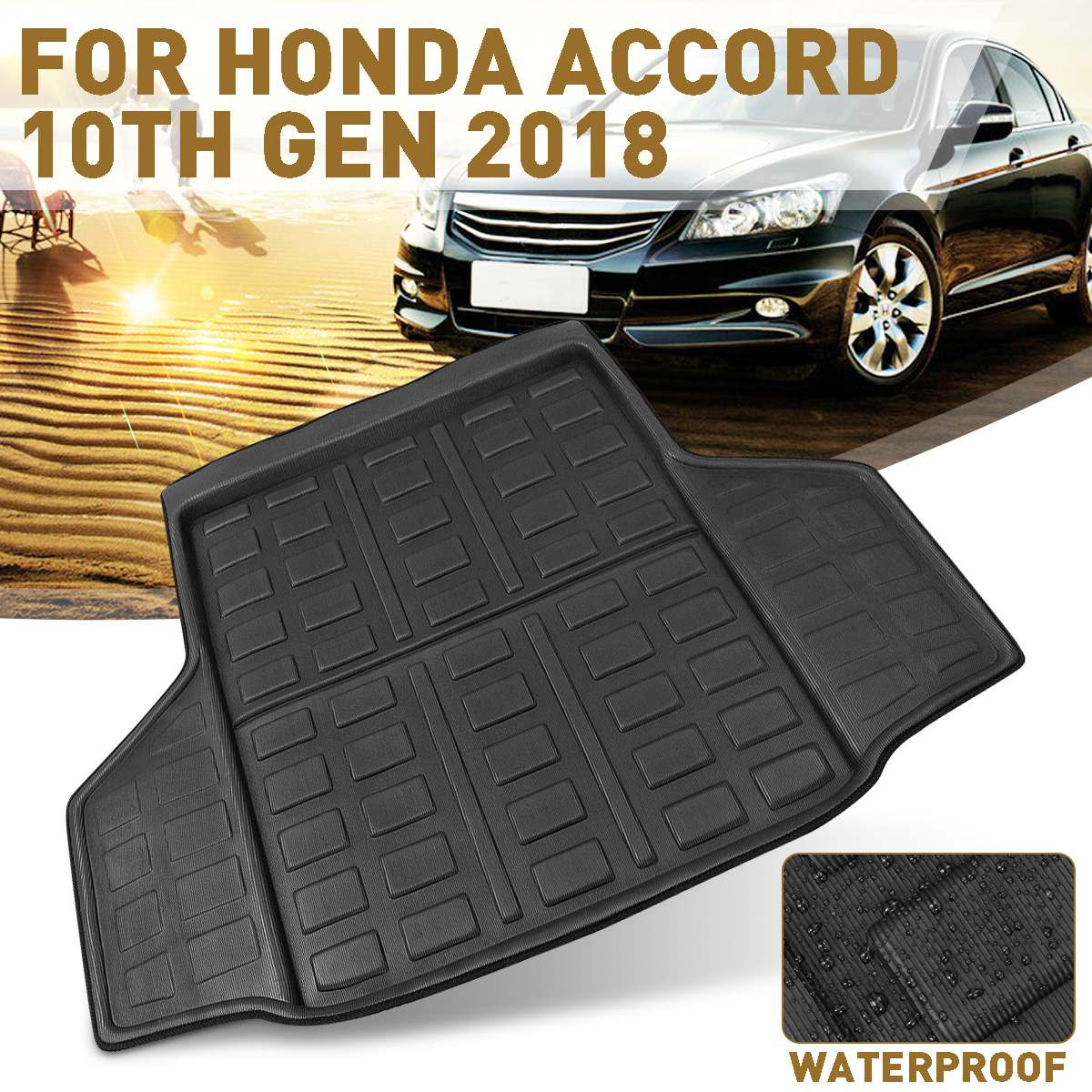 Car Rear Trunk Liner Boot Cargo Mat Tray Boot Floor Carpet For Honda For Accord 10th Generation 2018 Car Interior Accessories