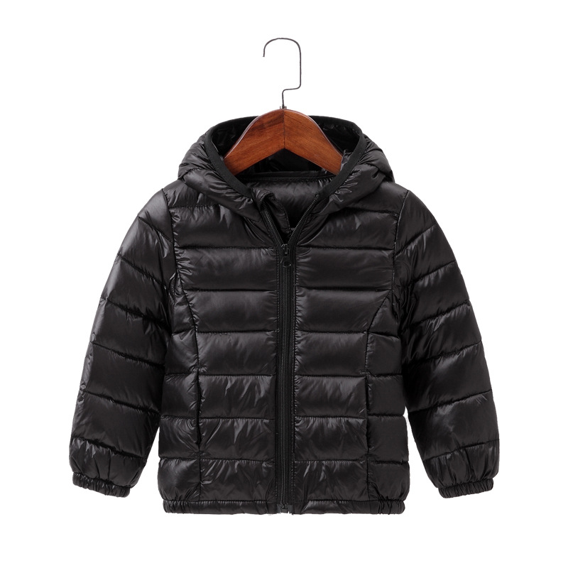 2021 Autumn Winter Hooded Children Down Jackets For Girls Candy Color Warm Kids Down Coats For Boys 2-9 Years Outerwear Clothes 2