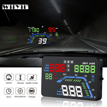 NEW Q7 5.5Inch Auto Car HUD GPS Head Up Display Universal Speedometers Overspeed Warning Dashboard Windshield Projector