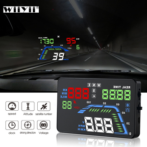 Image 1 - NEW Q7 5.5Inch Auto Car HUD GPS Head Up Display Universal Speedometers Overspeed Warning Dashboard Windshield Projector