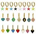 1 шт Позолоченные эмалированные серьги-подвески для Для женщин очарование серьги множественные стили лак минималистский ювелирные изделия