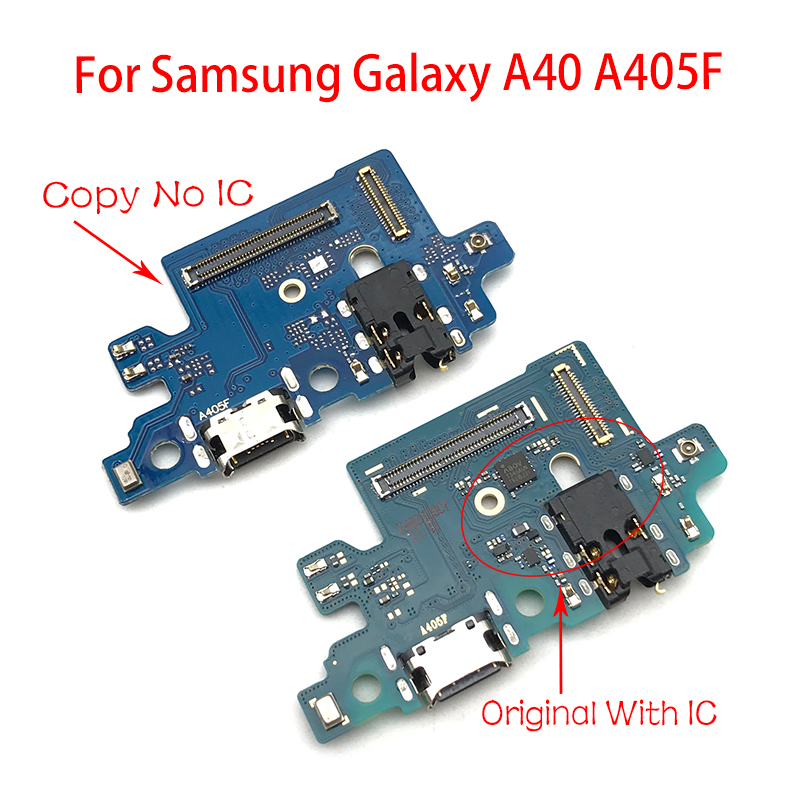 Dock Connector Micro USB Charger Charging Port Flex Cable Microphone Board For Samsung Galaxy A405F A40 A405