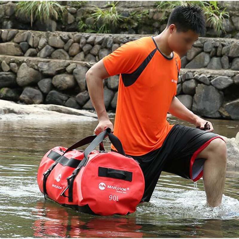 PVC Waterproof Dry Bag High Capacity 30L 60L 90L Outdoor Diving Foldable Beach Swimming Bag Rafting Kayaking Sailing Handbag
