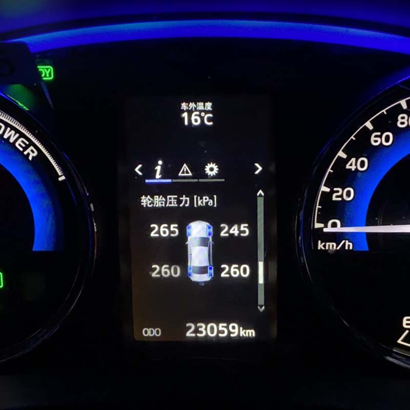 צמיג לחץ ניטור רכב צמיג תצוגת לוח מחוונים צמיג לחץ צג עבור טויוטה קורולה altis 2019 2020 אביזרי רכב