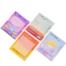 1pack/lot Creative Painted Oil Painting Post-it Three Design To Choose Stationery For School Suppiles Memo Pad Sticky Notes