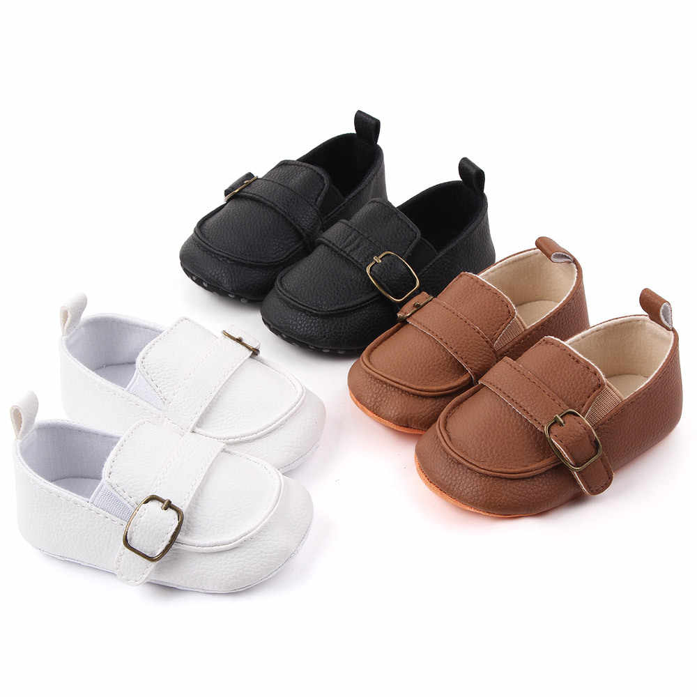 Black Baby Shoes Soft Sole Crib Shoes