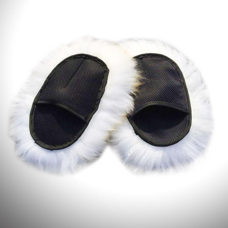 Car Cleaning Cloth Wool Glove Super Long Hair Mesh Sheepskin Car Luxury Lambswool Washing Cleaning Polishing Gloves