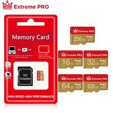 Carte Micro SD TF pour Smartphone avec adaptateur gratuit, 8 Go 16 Go 32 Go 64 Go 128 Go, carte micros de classe 10 à mémoire flash,