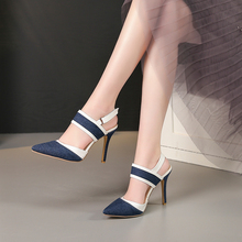 BESCONE Breathable Pumps Women Sexy Pointed Toe Buckle Thin Heel Pumps Handmade Super High Heels Dress Shallow Ladies Shoes BM97 pointed toe shallow high heel pumps women pink flower decorated super high thin heel shoes female high heels dress shoes