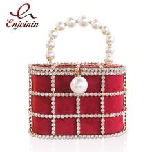 Hot High Quality Openwork Basket Design Diamonds Pearls Womens Luxury Party Handbags Evening Bag Fashion Pouch Designer Bag