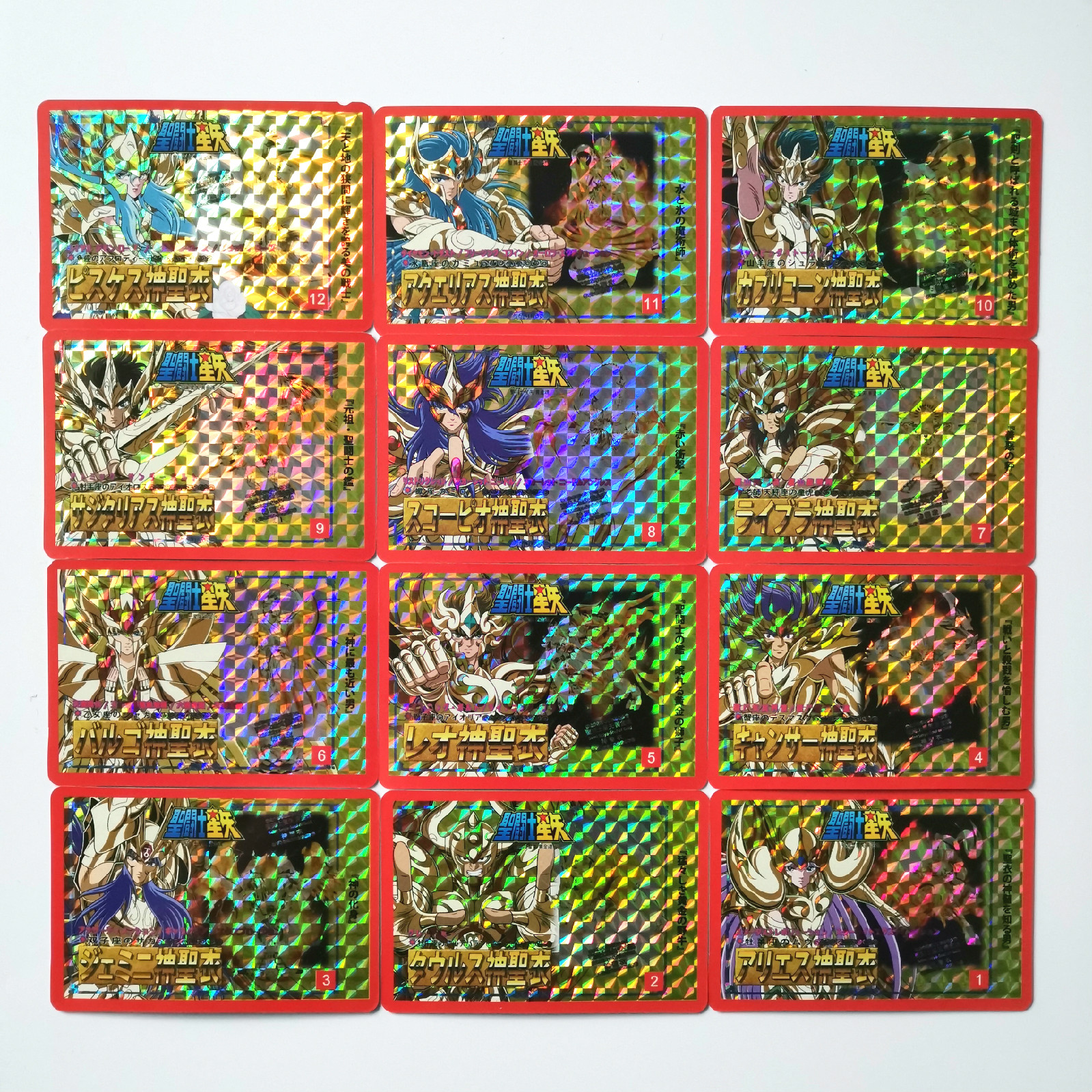14pcs/set Saint Seiya Golden Soul Cloth Myth Toys Hobbies Hobby Collectibles Game Collection Anime Cards