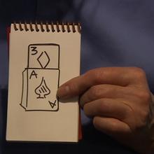 Крупным планом кардиографический Мартин Льюис, волшебные трюки
